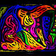 Acrylic painting NEON by Ann Marie  Vancas