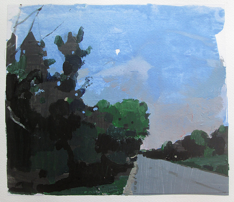 Acrylic painting High Road at Dusk by Harry Stooshinoff