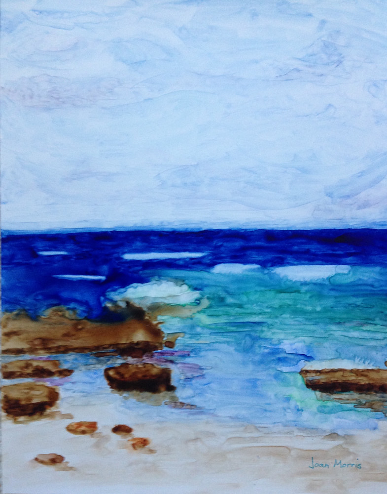Watercolor Calm Seas by Joan Morris