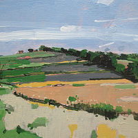 Acrylic painting Morning Field by Harry Stooshinoff