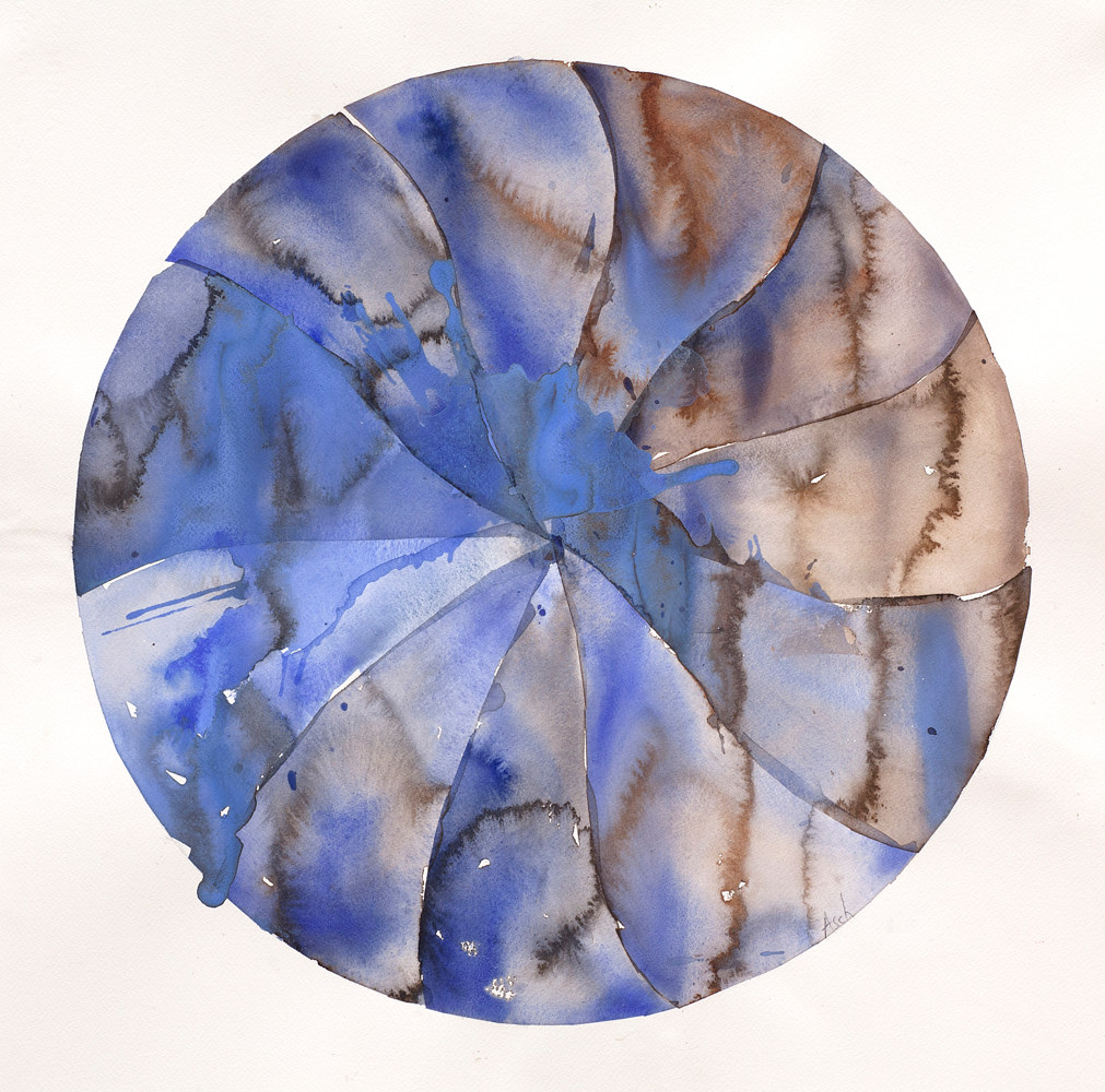 Watercolor Round Dance #4 by Clare Asch