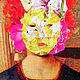Woman with the Face of Pasted Flowers  by Jo Ann Tunnell Muench