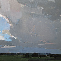 Acrylic painting Welcome Sky by Harry Stooshinoff