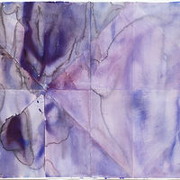 Watercolor Indigo Light by Clare Asch