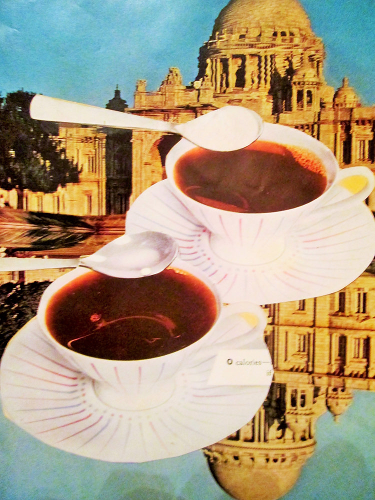 Flying Coffee Cups  by Jo Ann Tunnell Muench