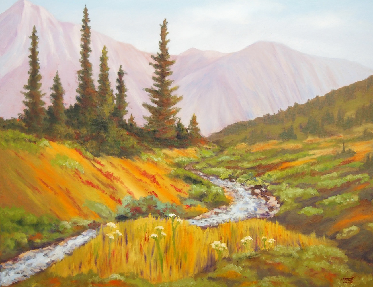 Oil painting Highwood_Pass by Brent Ciccone