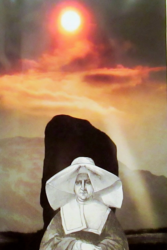 The Stern Nun Can Only Stare Straight Ahead  by JoAnne T. Muench