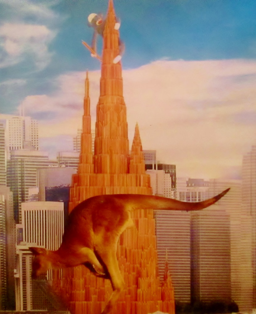 Kangaroo in the Canyons of Finance  by Jo Ann Tunnell Muench