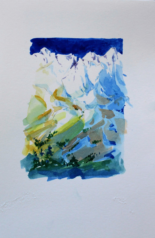 Watercolor Coquihalla #2 by Wanda Hawse