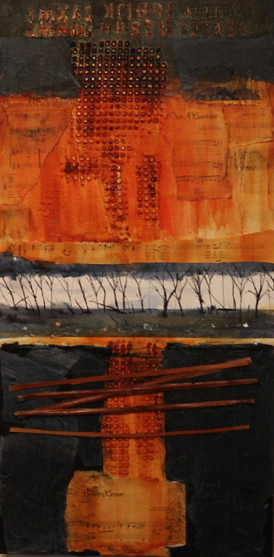 Mixed-media artwork Hickory Road by Steve Latimer