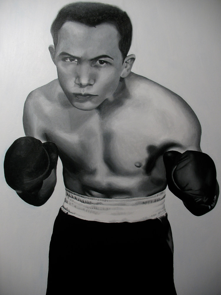 Acrylic painting DANNY by Arthur Carrillo