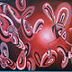 Acrylic painting ABSTRACT HEARTS by Art Carrillo