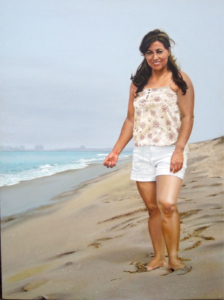 Acrylic painting GRACIELA'S BEACH by Arthur Carrillo
