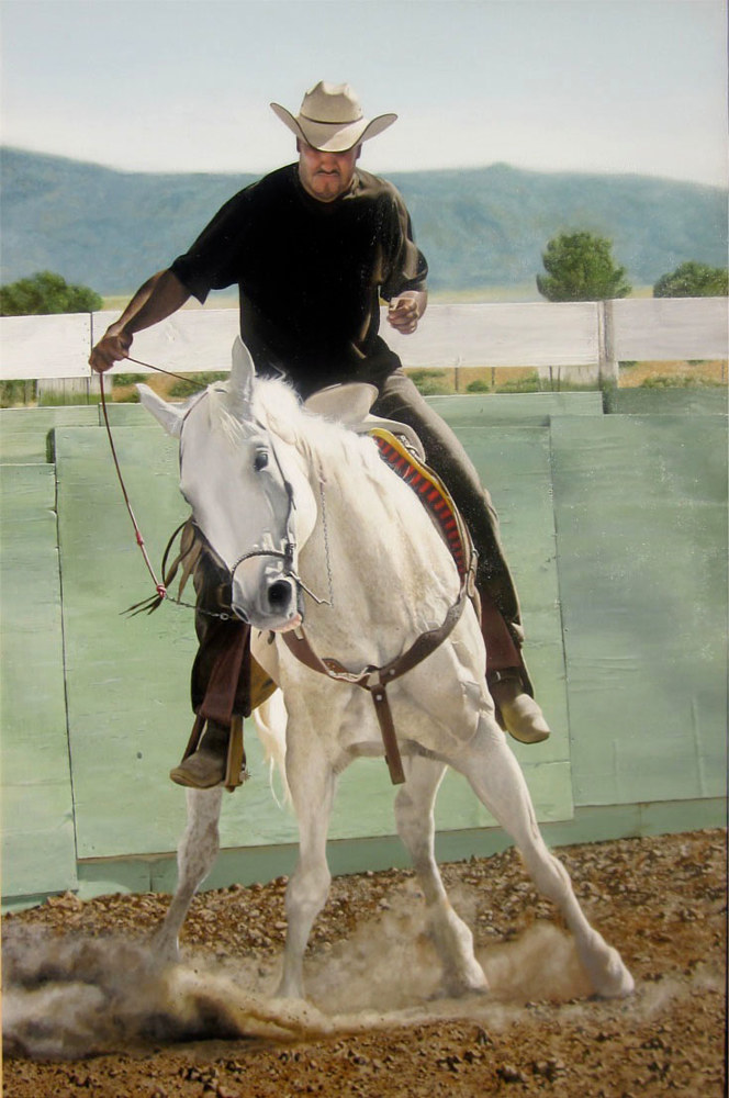 Acrylic painting AMERICAN COWBOY by Art Carrillo