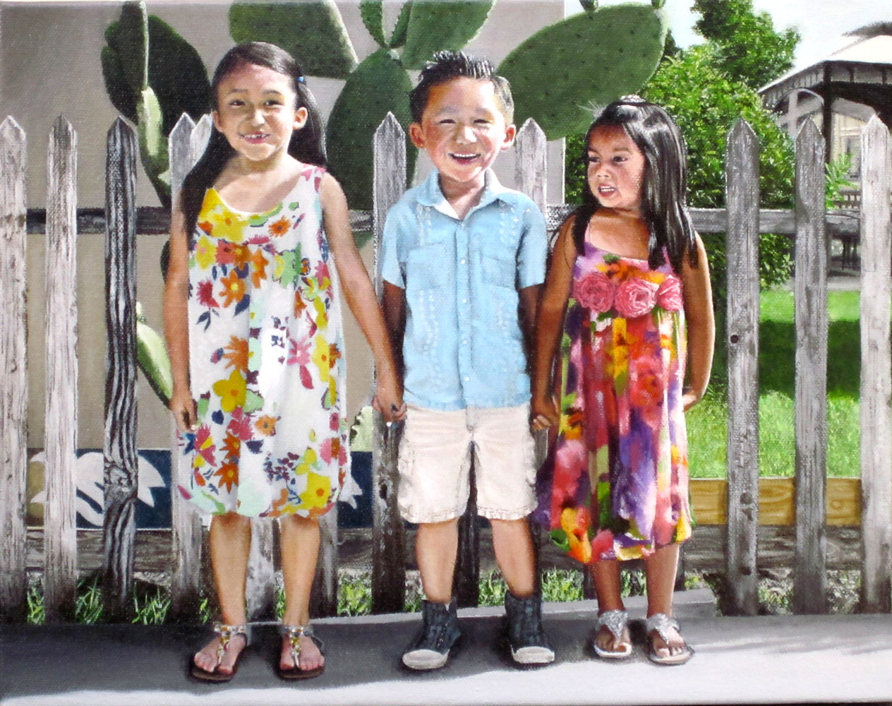 Acrylic painting FRIENDS by Arthur Carrillo