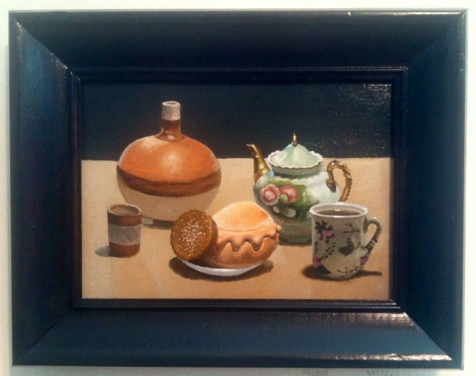 Acrylic painting STILL LIFE TEA POT by Arthur Carrillo