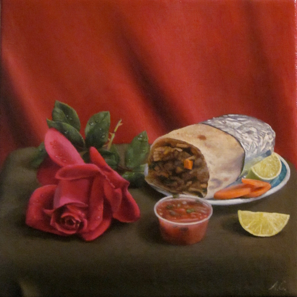 Acrylic painting ODE TO THE BURRITO by Arthur Carrillo