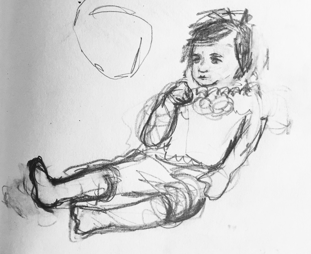 Drawing Quiet Child #2 by Guy Grogan