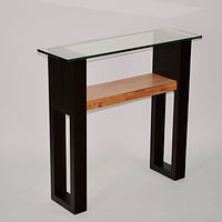 Small Western Curly Maple / Wenge Console Table by Enrique Morales