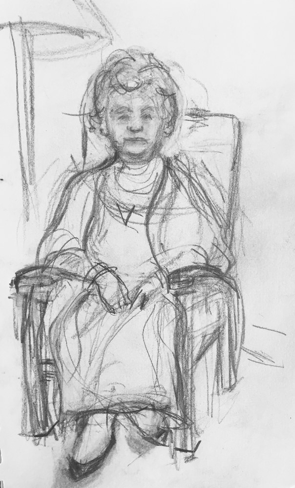 Drawing Nonna by Guy Grogan