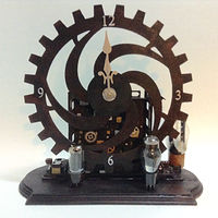 Steampunk Mantlepiece by Linda Cohen