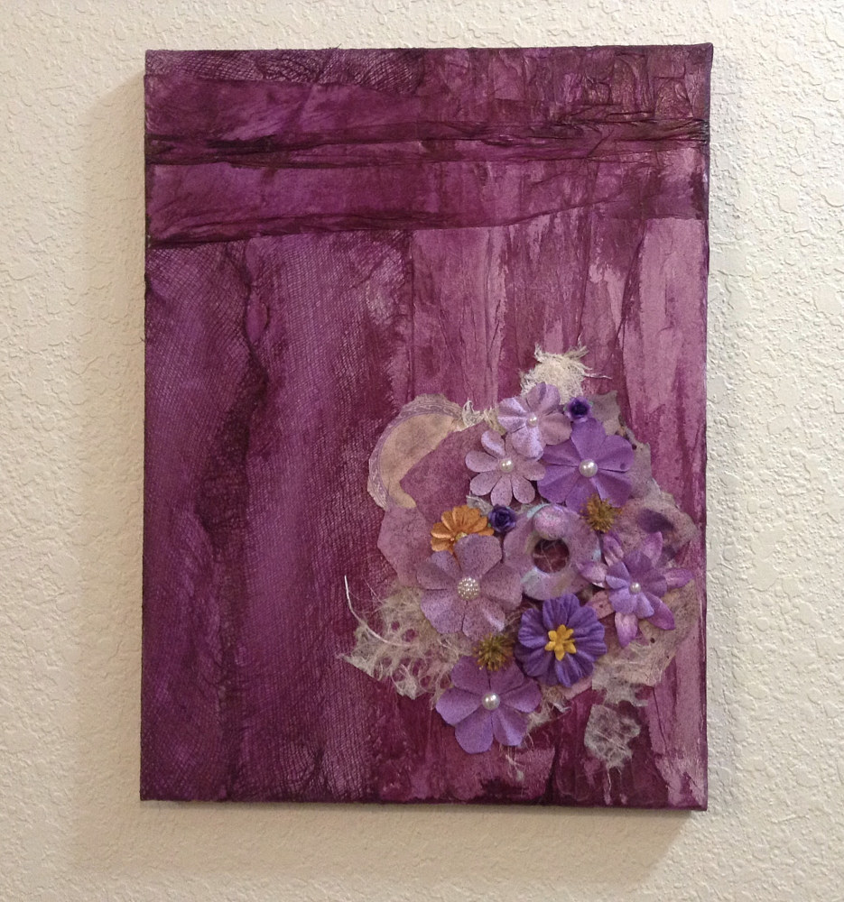 Drawing Purple Posies by Linda Cohen