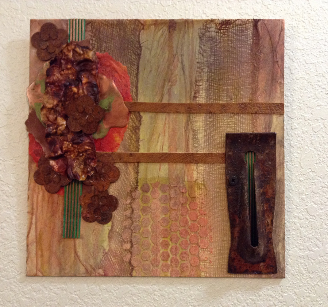 Acrylic painting Carpenter's Scraps by Linda Cohen