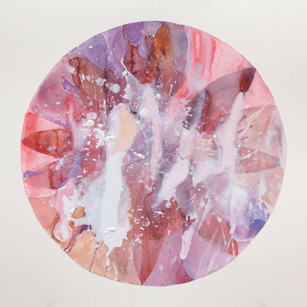 Acrylic painting Round Dance #10 by Clare Asch