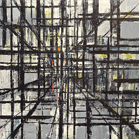 Acrylic painting Urban Matrix #16 by David Tycho