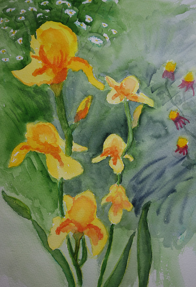 Watercolor Joan's Garden by Joan Morris