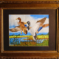Painting Ducks- in Flight -8x10 by Frans Geerlings