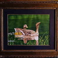 Painting Ducks-Canada Goos-8x10  by Frans Geerlings