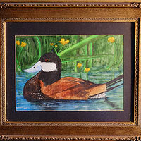 Painting Wood Duck-8x10  by Frans Geerlings