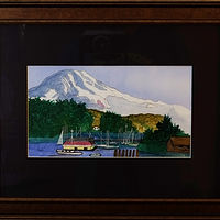 Painting Mount Hood-10x6 by Frans Geerlings