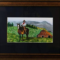 Painting Oregon Prairies-10x6 by Frans Geerlings