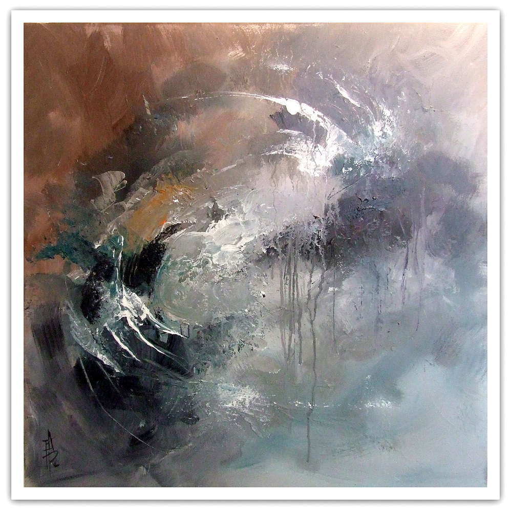 Eternal, mixed media, 50x50cm by Anne Farrall Doyle