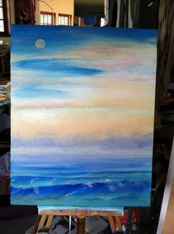 Acrylic painting Peaceful seas by Anya Doll