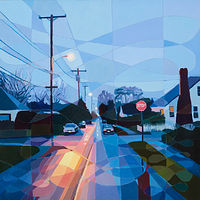 Oil painting Off of SE 82nd by Shawn Demarest