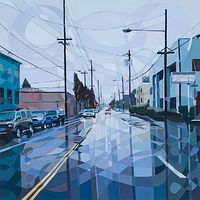 Oil painting East Burnside by Shawn Demarest