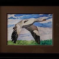 Painting Flying geese-16x20 by Frans Geerlings