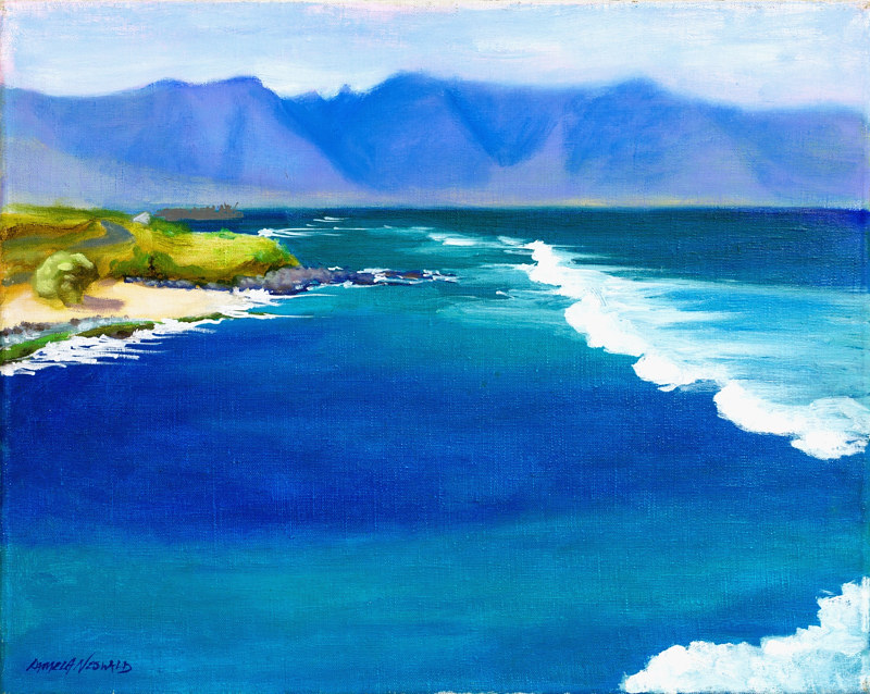 Oil painting Hookipa Blue by Pamela Neswald