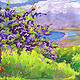 Oil painting Margaret's Jacaranda by Pamela Neswald