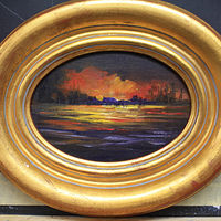 Oval  Sunset  by Barbara Haviland