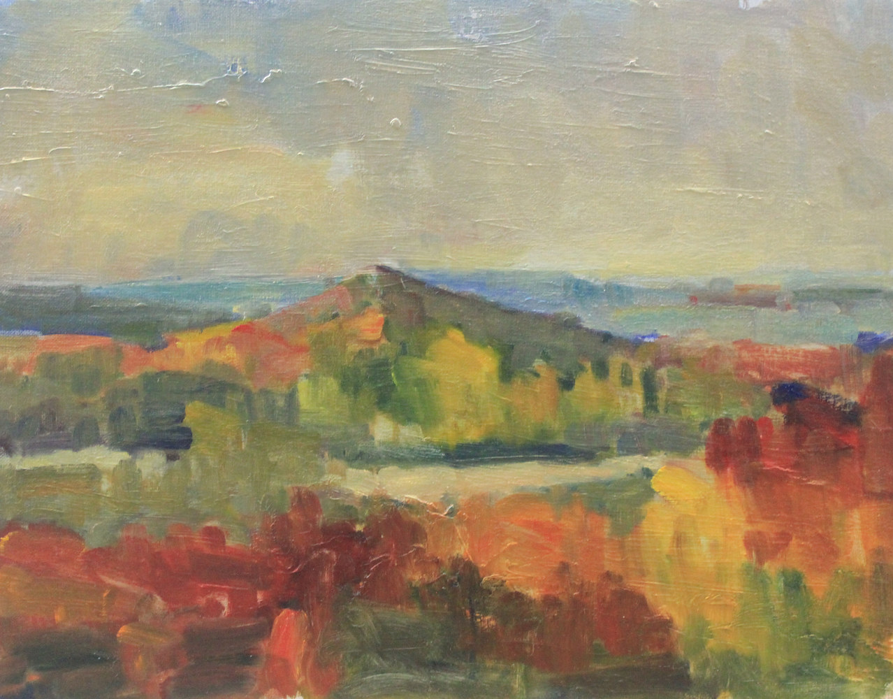 Clifton Highlands, Fall, oil on canvas board,  by Susan Horn