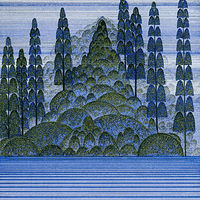 Drawing Blue Forest by Lawrie  Dignan