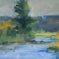 "Colorado River, oil on canvas board, 14"" x 11"" by Susan Horn"