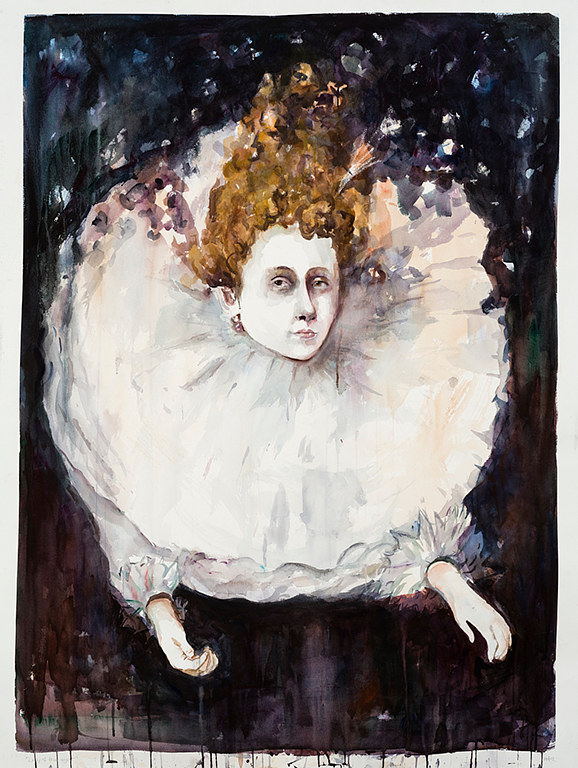 Watercolor Lady of the Night ( Reubens) by Mary Hayes
