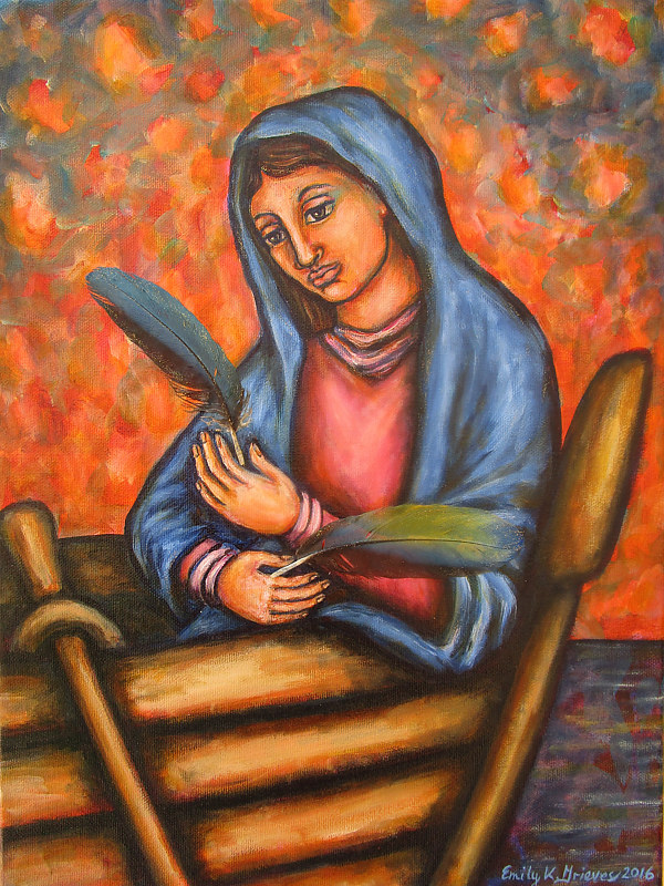 Acrylic painting Blessing the Vessel by Emily K. Grieves