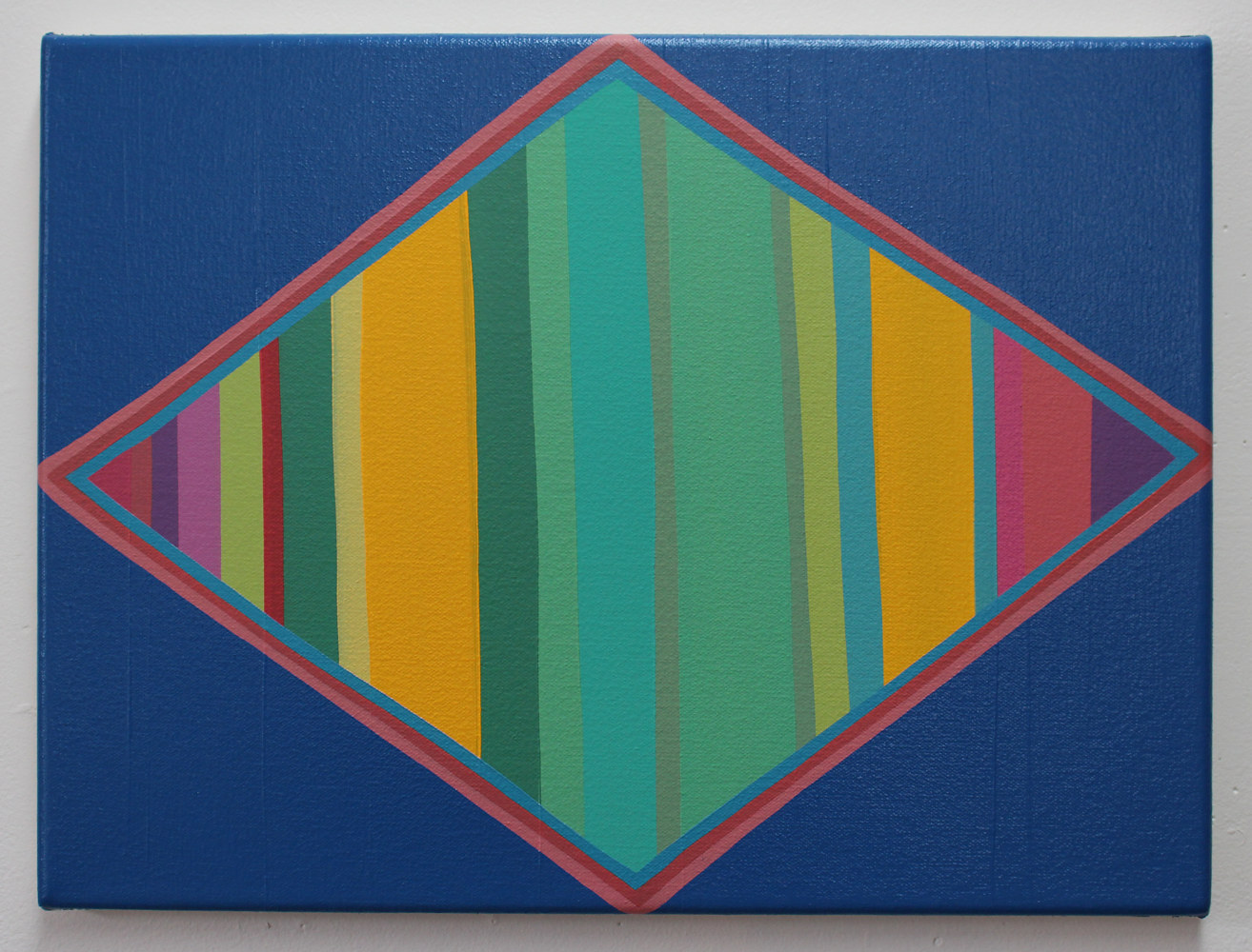 "Oil painting ""Striped Diamond"" 2016 by Christann Kennedy"