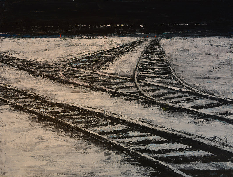Acrylic painting Sidings by David Tycho